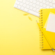 Stationary on yellow background - PhotoDune Item for Sale