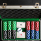 the aluminium suitcase with poker set - PhotoDune Item for Sale