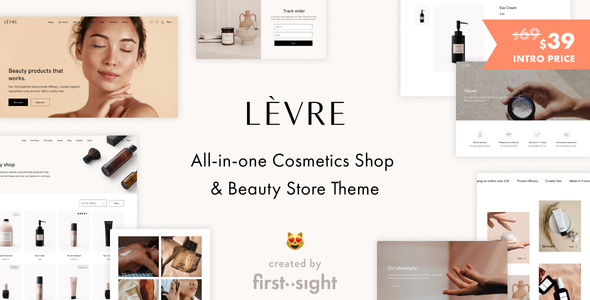 Download Levre — Cosmetics Beauty Shop Theme Free Nulled