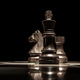 Chess game pieces and smoke - PhotoDune Item for Sale