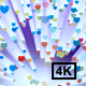 Colorful Hearts Falling With Ray 4K - VideoHive Item for Sale