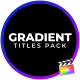 Gradient Titles For FCPX - VideoHive Item for Sale