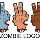 Zombie Inspired Cartoon Logo