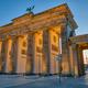 The back side of the famous Brandenburg Gate in Berlin before sunrise - PhotoDune Item for Sale