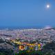 Night view of Barcelona from the Collserola mountain range - PhotoDune Item for Sale