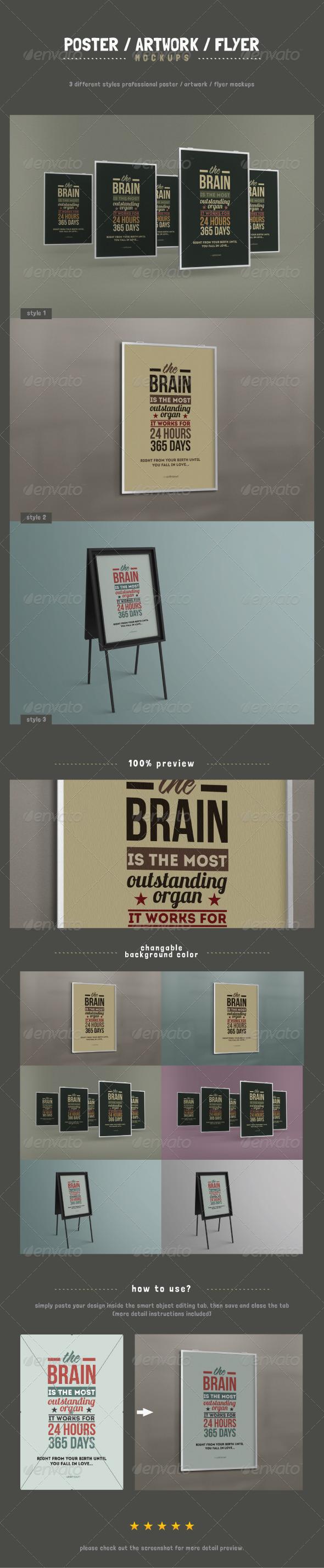 Poster / Artwork / Flyer Mockups - Posters Print