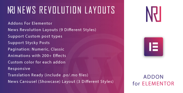Download News Revolution Layouts for Elementor WordPress Plugin Free Nulled