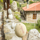 Wooden railing with hanged stones - PhotoDune Item for Sale