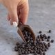 Hand with a scoop of Black chickpea closeup - PhotoDune Item for Sale