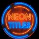 Neon Titles || Premiere Pro MOGRT - VideoHive Item for Sale