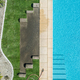Outdoor Swimming Pool and Lawn Finishing Aerial View. - PhotoDune Item for Sale