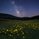 Milky way above mountain meadow - PhotoDune Item for Sale