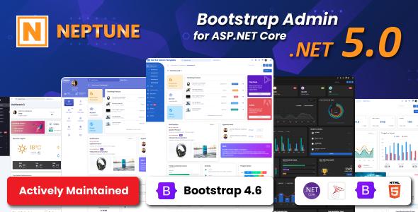 Neptune Admin Template for Asp.Net Core