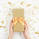 Golden gift box with confetti - PhotoDune Item for Sale