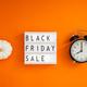 Black friday sale text on white lightbox - PhotoDune Item for Sale