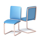 Modern blue leather chairs - PhotoDune Item for Sale
