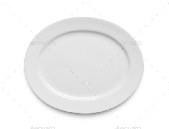 white plate on white - Stock Photo - Images