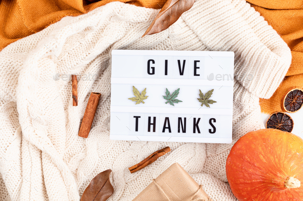 Abstract Thanksgiving flat lay composition - Stock Photo - Images