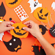 Flat lay of DIY accessories for halloween decoration. Happy Halloween festival background - PhotoDune Item for Sale