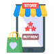 50 Mobile Shopping Icons