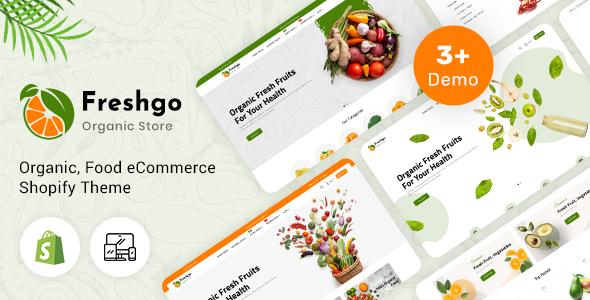 FreshGo - Organic & Supermarket Shopify Food Store