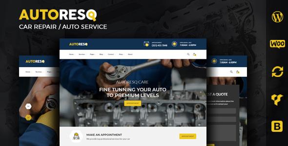 Extraordinary Autoresq - Car Repair WordPress Theme