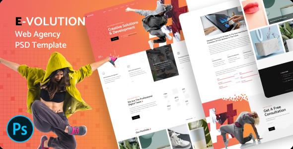 E-Volution - Web Agency PSD Template