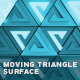 Abstract Background With Moving Triangle Surface - VideoHive Item for Sale