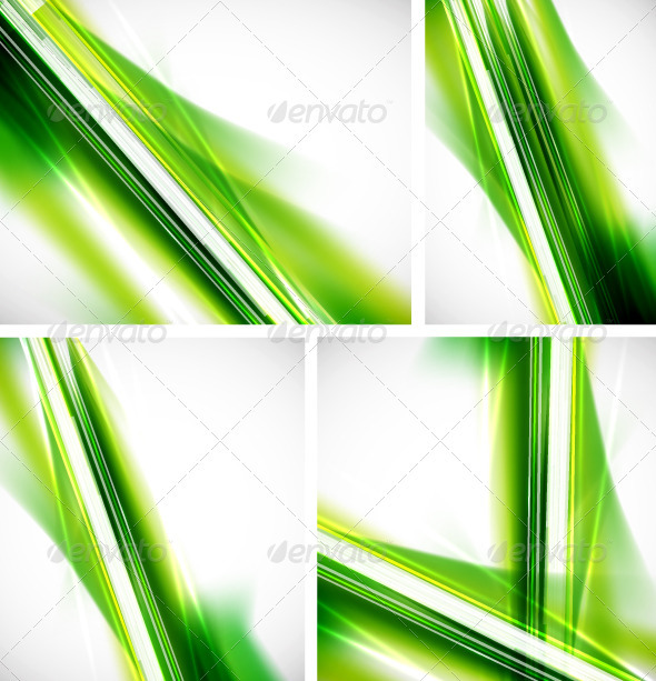 Shiny Green Lines Backgrounds - Backgrounds Decorative