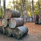 Lots of old round barrels in the paintball base - PhotoDune Item for Sale