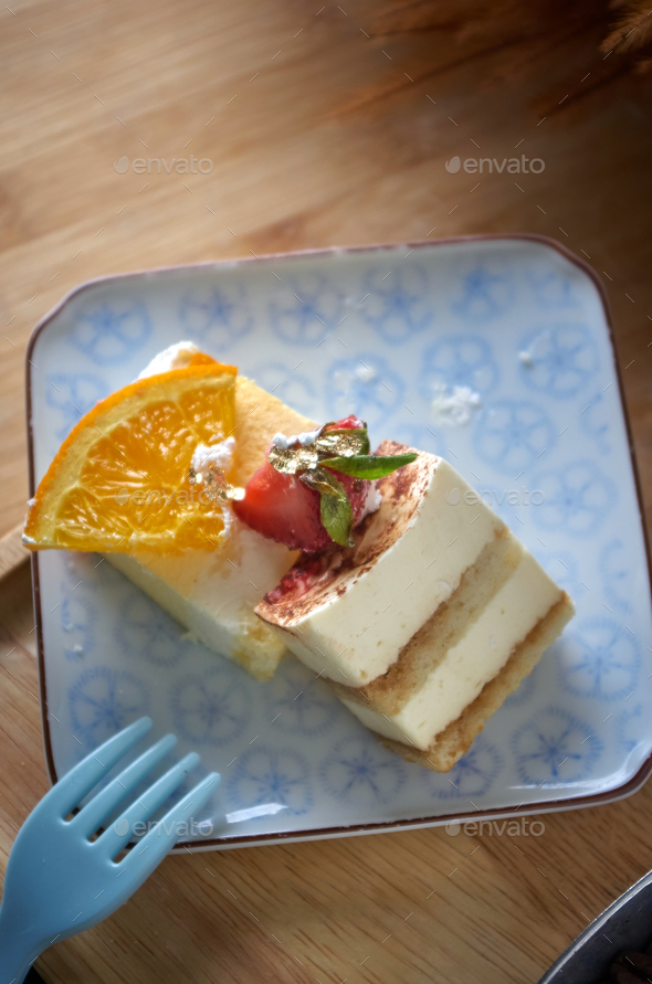 Close-up view of the slice of cakes - Stock Photo - Images