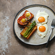 Breakfast with asparagus,eggs and tomato, copy space - PhotoDune Item for Sale