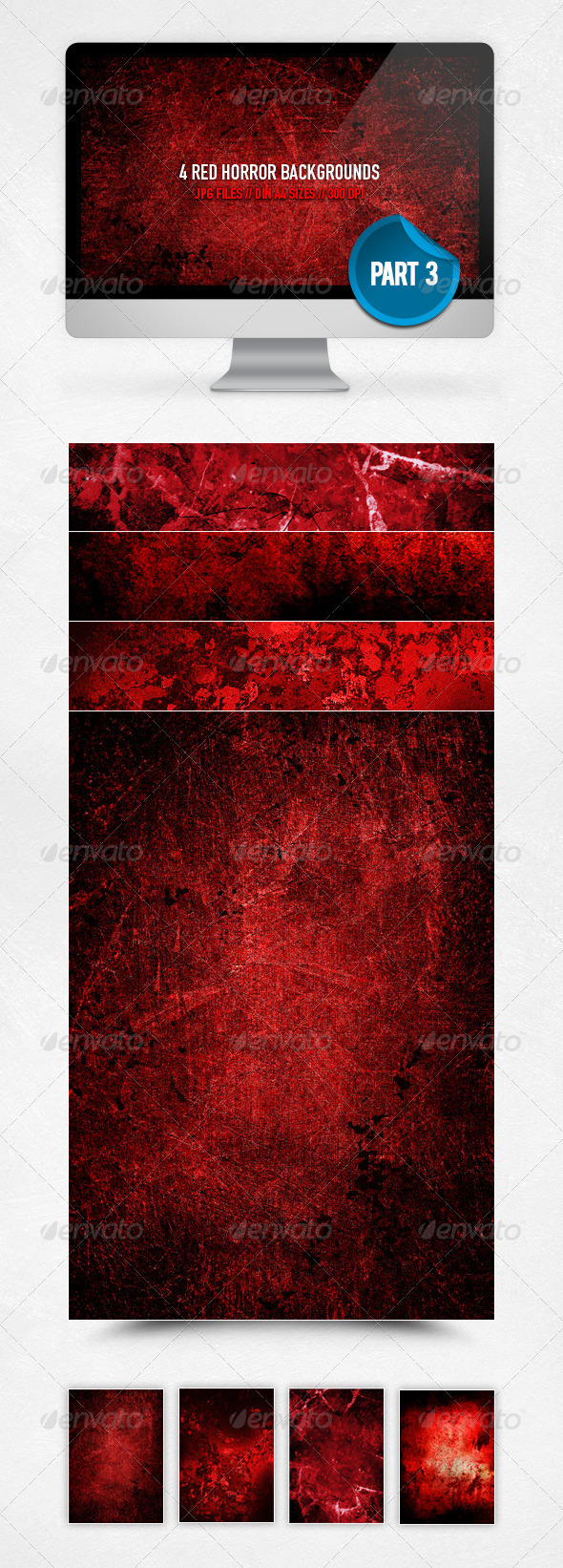 Red Horror Backgrounds - Part 3 - Miscellaneous Backgrounds