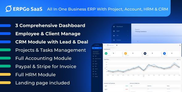 Download ERPGo SaaS – All In One Business ERP With Project, Account, HRM & CRM Free Nulled
