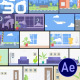 30 Flat Interior and City Background Pack - AE - VideoHive Item for Sale