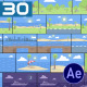 30 Flat Seaside and Nature Background Pack - AE - VideoHive Item for Sale