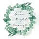 Watercolor Foliage Background With Quotes
