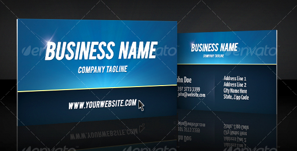 Print ready bold, clean professional business card - Corporate Business Cards