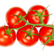Panicle tomatoes, fresh, ripe, raw fruits from above, over white - PhotoDune Item for Sale