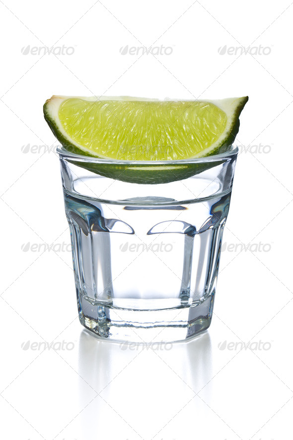 glass of clear alcohol - Stock Photo - Images