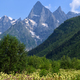 Summer landscape with mountain peaks - PhotoDune Item for Sale
