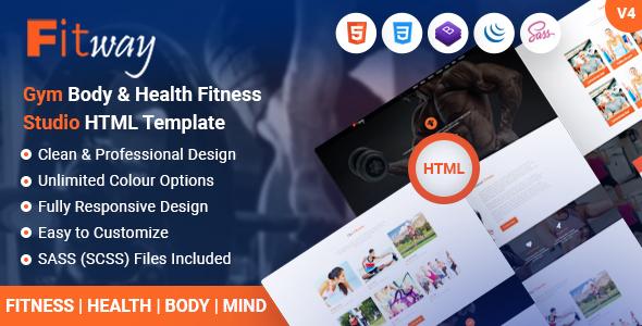 Fitway - Gym Fitness Studio & Body Health Yoga HTML Template