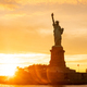The Statue of Liberty at New York city during sunset - PhotoDune Item for Sale