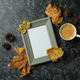 Cozy autumn concept background with coffee drink - PhotoDune Item for Sale