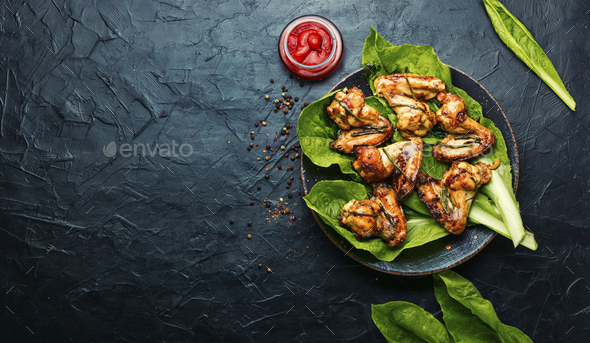 BBQ Chicken Wings - Stock Photo - Images
