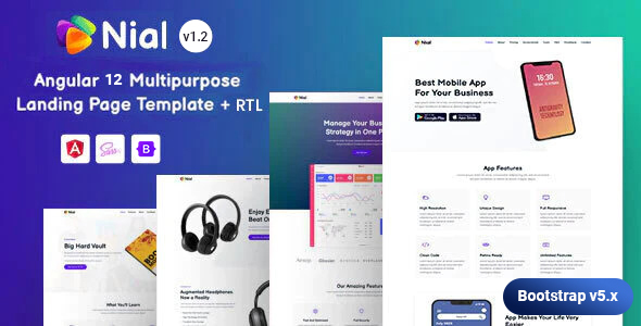 Nial - Angular 12 Landing Page Template