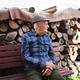 Portrait of elderly man sitting on bench outdoors in garden, resting - PhotoDune Item for Sale
