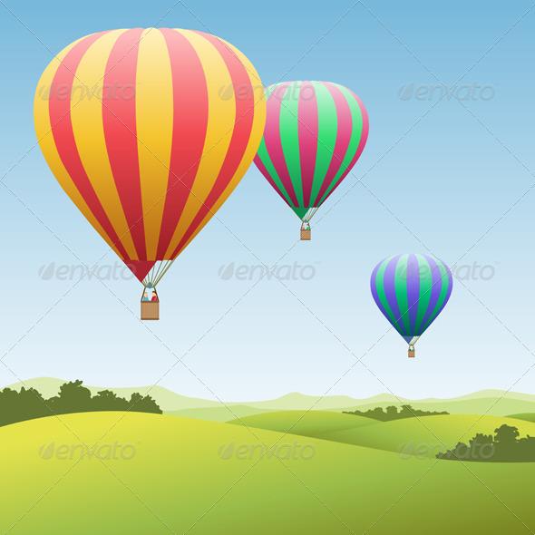 Hot Air Balloons - Miscellaneous Vectors