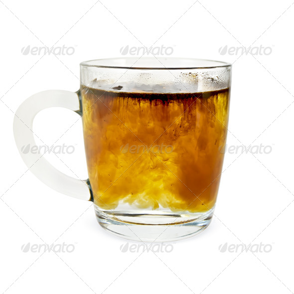 Coffee granulated in a glass mug - Stock Photo - Images