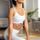 Fit sport woman exercising and training at home - PhotoDune Item for Sale